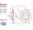 Bremsscheiben 09.B355.1X mit vorteilhaften BREMBO Preis-Leistungs-Verhältnis