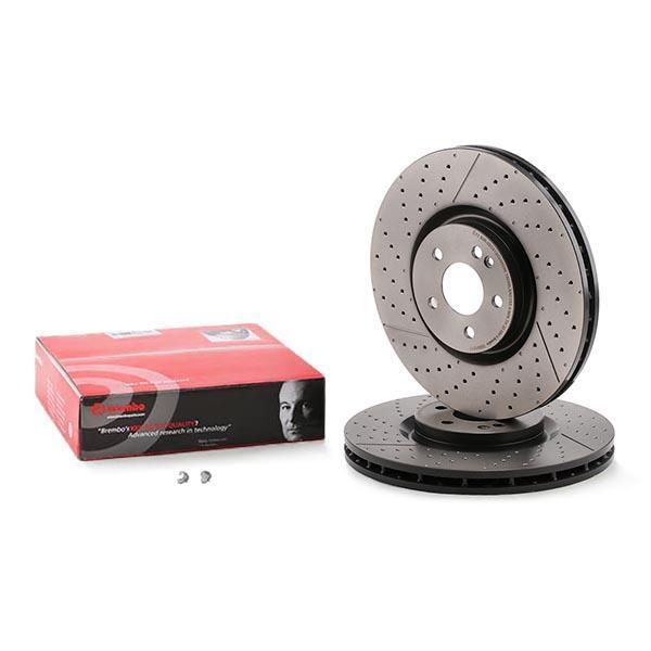 09.8904.11 Brembo2 DISQUES DE FREIN pelliculés Disc Line est aérée 312 mm avant