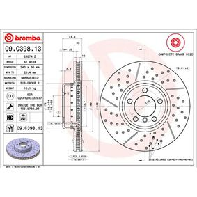 09.C398.13 Brake Disc BREMBO - Experience and discount prices