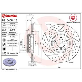09.C400.13 Brake Disc BREMBO - Experience and discount prices