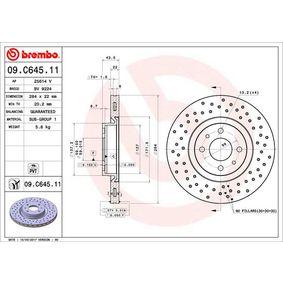 09.C645.11 Disco de freno BREMBO - Productos de marca económicos