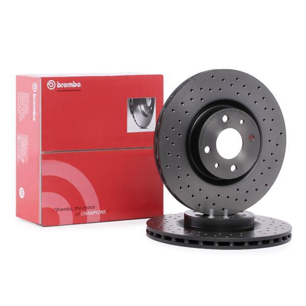 2 disque de frein Brembo 09.b973.11 pelliculés Disc Line convient pour VW