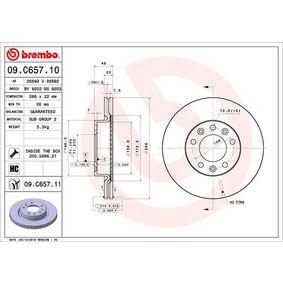 09.C657.11 Bremsscheibe BREMBO - Markenprodukte billig