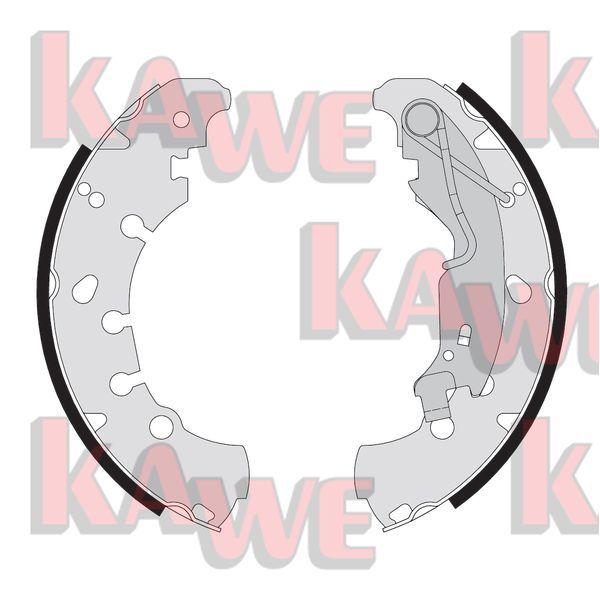 09090 KAWE Ø: 203mm, mit Handbremshebel Breite: 38mm Bremsbackensatz 09090 günstig kaufen