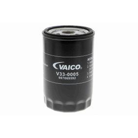 V33-0005 VAICO Anschraubfilter, mit zwei Rücklaufsperrventilen, Original VAICO Qualität Innendurchmesser 2: 62mm, Innendurchmesser 2: 71mm, Ø: 76mm, Ø: 76,5mm, Höhe: 123mm Ölfilter V33-0005 günstig kaufen
