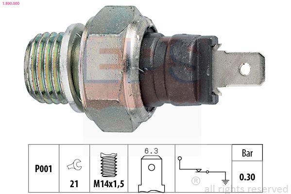Accesorios y recambios SEAT RONDA 1988: Interruptor de control de la presión de aceite EPS 1.800.000 a un precio bajo, ¡comprar ahora!