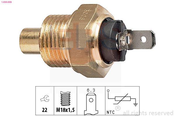 Sensor, Kühlmitteltemperatur EPS 1.830.008 Bewertungen