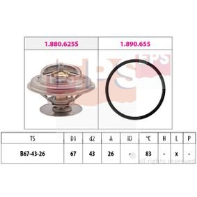 KW580625 EPS Öffnungstemperatur: 83°C, Made in Italy - OE Equivalent D1: 67mm Thermostat, Kühlmittel 1.880.625 günstig kaufen
