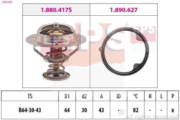 KW580926 EPS Öffnungstemperatur: 82°C, Made in Italy - OE Equivalent D1: 64mm Thermostat, Kühlmittel 1.880.926 günstig kaufen