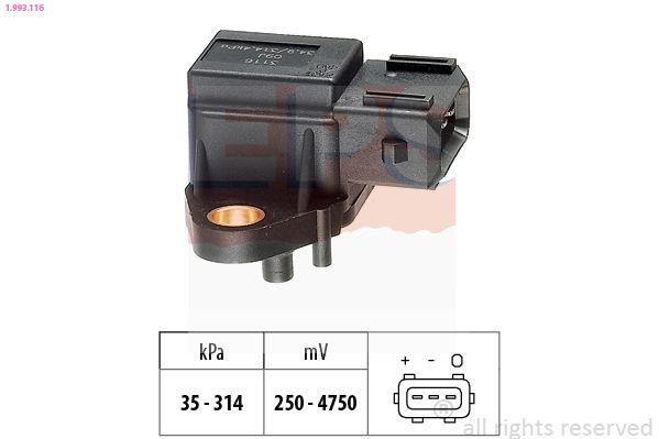 KW493116 EPS Made in Italy - OE Equivalent Luftdrucksensor, Höhenanpassung 1.993.116 günstig kaufen
