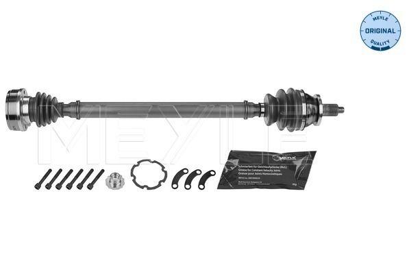 VW FOX 2014 Halbachse - Original MEYLE 100 498 0629 Länge: 751mm, Außenverz.Radseite: 36