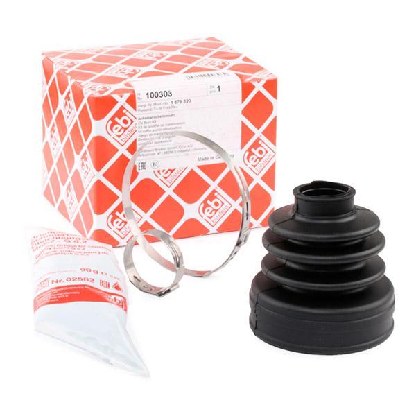 FEBI 100303 Faltenbalg Satz Antriebswelle Manschette getriebeseitig für FORD