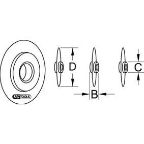 1011001 Pjovimo diskas, vamzdžio pjoviklis KS TOOLS 101.1001 Platus pasirinkimas — didelės nuolaidos