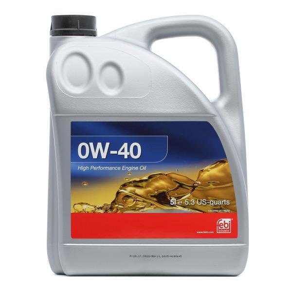 Comprare VW50500 FEBI BILSTEIN 0W-40, 5l, Olio sintetico Olio motore 101142 poco costoso
