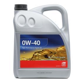 Pirkti VW50500 FEBI BILSTEIN 0W-40, 5l, Sintetinė alyva Variklio alyva 101142 nebrangu