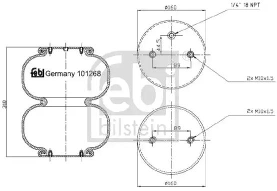 Original RENAULT Federbalg, Luftfederung 101268