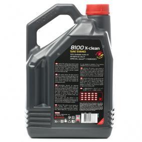 Comprare SUZUKI MOTUL 8100, X-CLEAN 5W-40, 5l, Olio sintetico Olio motore 102051 poco costoso
