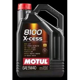 Comprare 8100XCESS5W40 MOTUL 8100, X-CESS 5W-40, 5l, Olio sintetico 100% Olio motore 102870 poco costoso