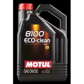 Achat de 8100ECOCLEAN0W30 MOTUL 8100, ECO-CLEAN 0W-30, 5I, Huile synthétique Huile moteur 102889 pas chères