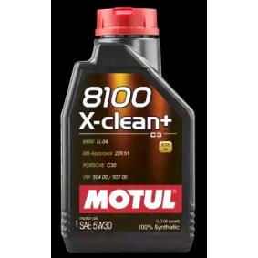 Achat de 8100XCLEAN5W30 MOTUL 8100, X-CLEAN+ 5W-30, 1I, Huile synthétique Huile moteur 106376 pas chères