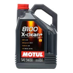 8100XCLEAN5W30 MOTUL 8100, X-CLEAN+ 5W-30, 5L, Synthetische olie Motorolie 106377