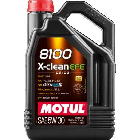 Купете MOTUL 8100, X-CLEAN EFE 5W-30, 5литър, Масло напълно синтетично Двигателно масло 107206 евтино