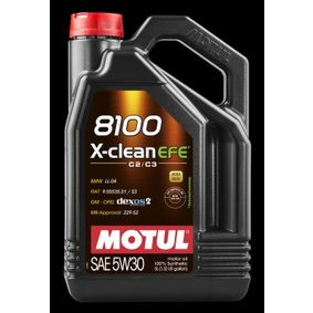 8100XCLEANEFE5W30 MOTUL 8100, X-CLEAN EFE 5W-30, 5l, Synthetiköl Motoröl 107206 günstig