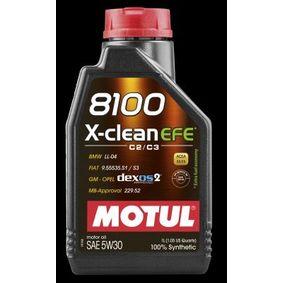 8100XCLEANEFE5W30 MOTUL 8100, X-CLEAN EFE 5W-30, 1l, Synthetiköl Motoröl 107210 günstig kaufen