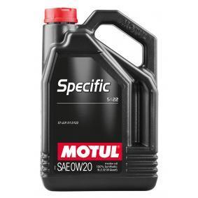 SPECIFIC51220W20 MOTUL SPECIFIC, 5122 0W-20, 5l, Vollsynthetiköl Motoröl 107339 günstig kaufen