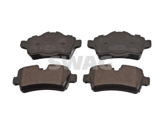 24290 SWAG Hinterachse, für Verschleißwarnanzeiger vorbereitet Breite: 39,2, 48,3mm, Dicke/Stärke 1: 16,8mm Bremsbelagsatz, Scheibenbremse 11 91 6742 günstig kaufen