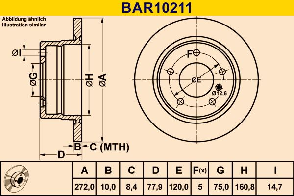 OE Original Bremsscheiben BAR10211 Barum