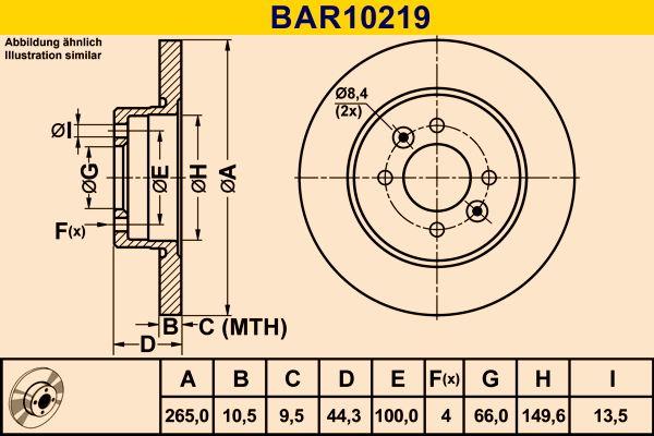 Barum Bremsscheibe BAR10219