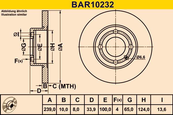 VW Disque de frein d'Origine BAR10232