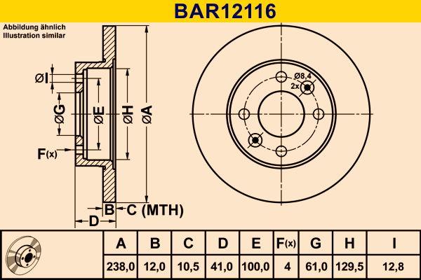 BAR12116 Scheibenbremsen Barum - Markenprodukte billig