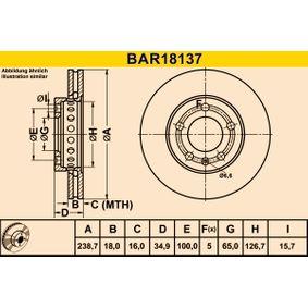 BAR18137 Brzdový kotouč Barum BAR18137 - Obrovský výběr — ještě větší slevy