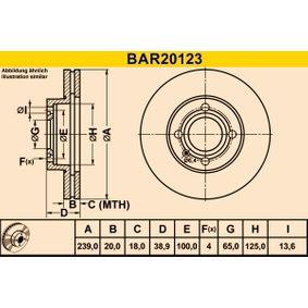 BAR20123 Bremsscheiben Barum BAR20123 - Große Auswahl - stark reduziert