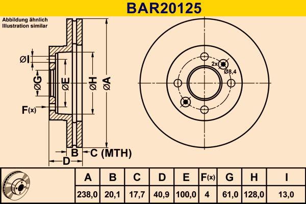 Barum | Stabdžių diskas BAR20125