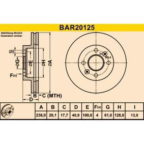 BAR20125 Bremsscheibe Barum BAR20125 - Große Auswahl - stark reduziert