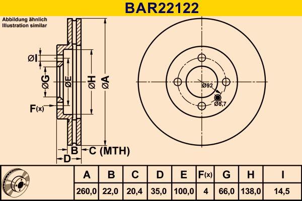 Original JEEP Scheibenbremsen BAR22122