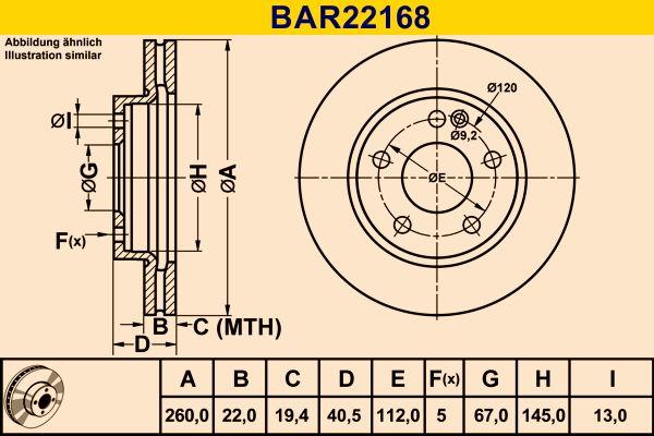 Barum Bremsscheibe BAR22168