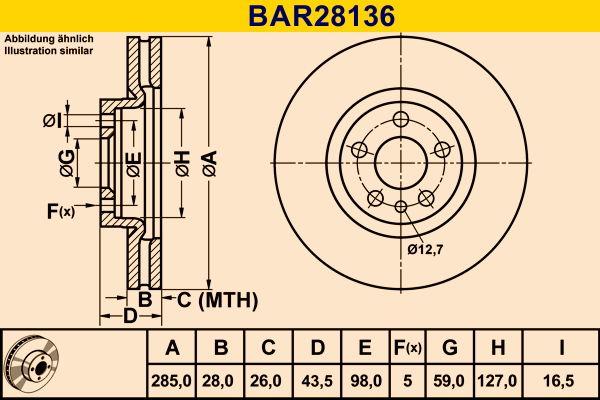 Original MINI Bremsscheiben BAR28136