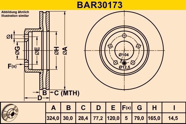 Original JEEP Bremsscheibe BAR30173
