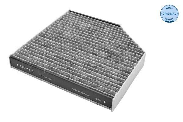 AUDI A8 2017 Kabinenluftfilter - Original MEYLE 112 320 0017 Breite: 253mm, Höhe: 35mm, Länge: 256mm
