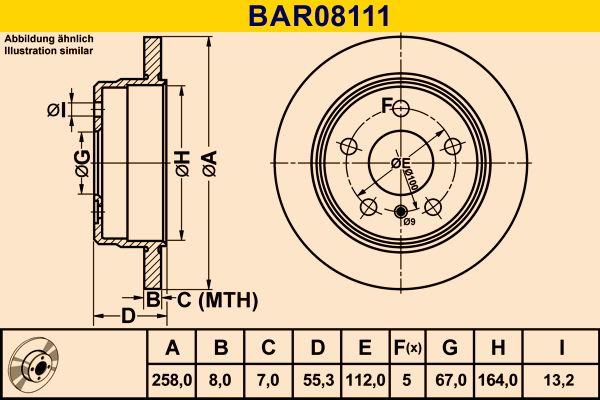 Barum Stabdžių diskas BAR08111
