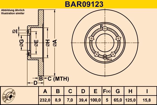 Bremsscheibe BAR09123 von Barum