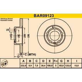 Brzdový kotouč BAR09123 od Barum