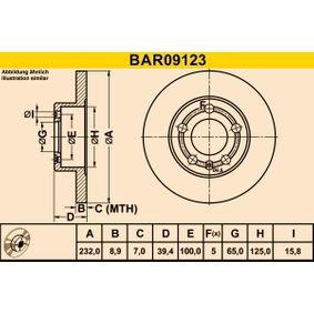Zavorni kolut BAR09123 od Barum
