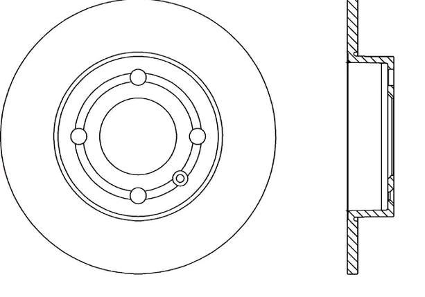 VW Disques de frein d'Origine BAR09124