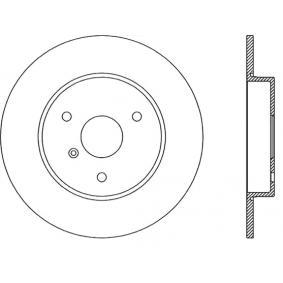 Brake Disc BAR09136 for SMART CROSSBLADE at a discount — buy now!