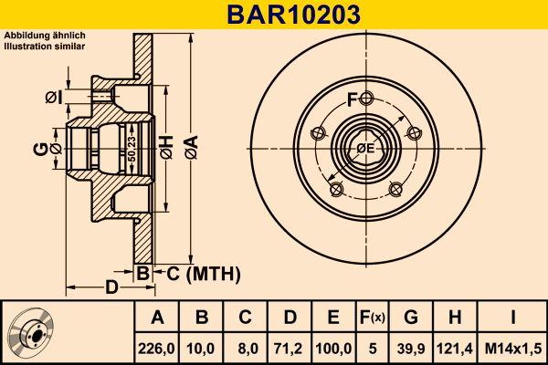 VW Disque de frein d'Origine BAR10203